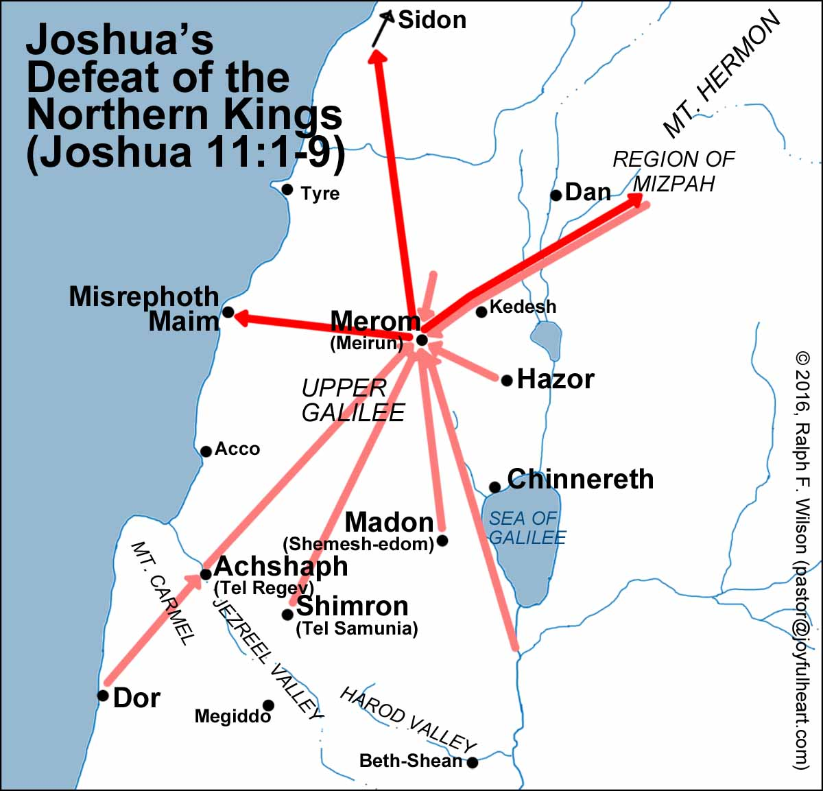Maps for the Book of Joshua -- JesusWalk Bible Study Series