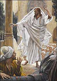 James Tissot, detail of Jesus Curses the Pharisees