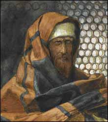 James J. Tissot, 'Nicodemus' (1886-94), Watercolor, The Brooklyn Museum, New York.