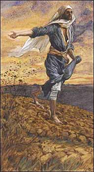 James J. Tissot, 'The Sower' (1886-94), watercolor, Brooklyn Museum, New York.