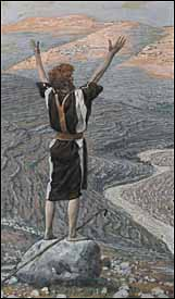 James J. Tissot, �The Voice in the Desert� (1886-94), gouache on paper, 11.5x6.7�, Brooklyn Museum, New York.