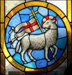 Agnus Dei, Stained glass, Duomo, Florence.