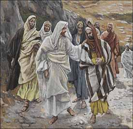 James J. Tissot, detail of 'Jesus Discourses with His Disciples' (1886-94)