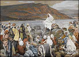 James J. Tissot, 'Jesus Teaches the People by the Sea' (1886-94)