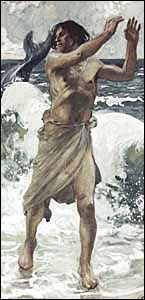 James J. Tissot, 'Jonah', gouache on gray wove paper, The Jewish Museum, New York.