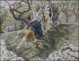 James J. Tissot, 'The Blind in the Ditch' (1886-94), gouache on gray wove paper, 7.6 x 9.8 in., Brooklyn Museum, New York.