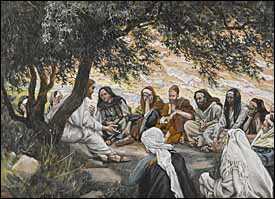 James Tissot, 'The Exhortation to the Apostles'