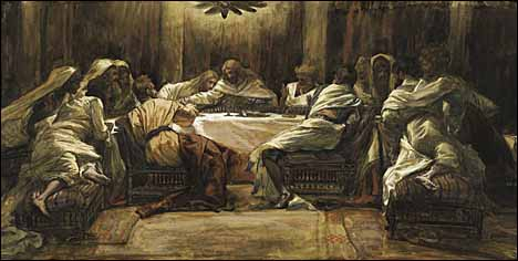 James J. Tissot, 'The Last Supper: Judas Dipping His Hand in the Dish' (1886-94)