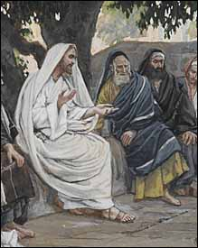 James J. Tissot, detail of  'The Pharisees and the Sadducees Come to Tempt Jesus' (1886-94)