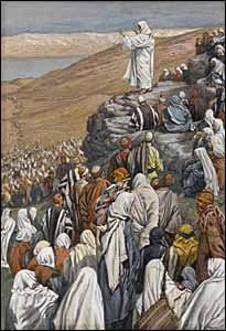 James J. Tissot, 'The Sermon of the Beatitudes' (1886-94), gouache on gray wove paper, 9.67 x 6.44 in., Brooklyn Museum, New York.