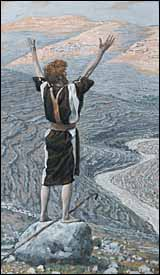 James J. Tissot, 'The Voice in the Desert' (1886-94), gouache on gray wove paper, 11.4 x 6.69 in., Brooklyn Museum, New York.
