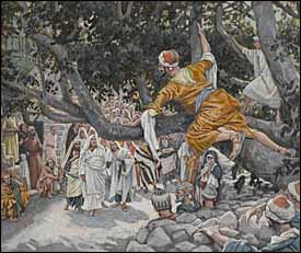 James J. Tissot, 'Zacchaeus in the Sycamore Awaiting the Passage of Jesus' (1886-94)