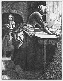 John Everett Millais, 'The Leaven' (1884), wood engraving on paper