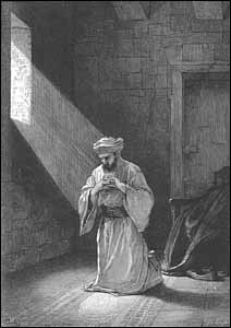 Alexandre Bida (French painter, 1823-1895), The Prayer in Secret, engraving, in Edward Eggleston, Christ in Art (New York: Fords, Howard, & Hulbert, 1874).