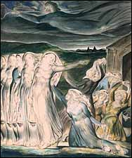William Blake, Parable of the Wise and Foolish Virgins (1822), watercolor, Tate Collections. 