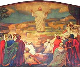 Harry Hanley Parker (1869-1917), detail of Sermon on the Mount (1905), mural, Calvary United Methodist Church, West Philadelphia.