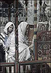 James J. Tissot, Jesus Teaching in the Synagogue (1886-1896), watercolor