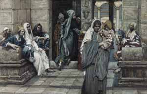 James J. Tissot, The Widow's Mite (1896-1904), watercolor.