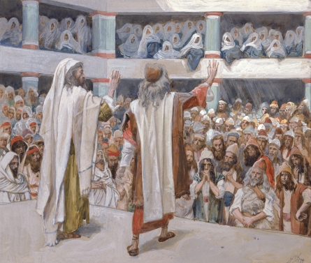 James J Tissot Moses And Aaron Speak To The People 1896 1900 Watercolor Jewish Museum New York