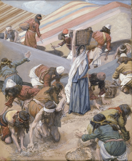 Paintings of Moses and the Exodus featuring watercolors of James J ...