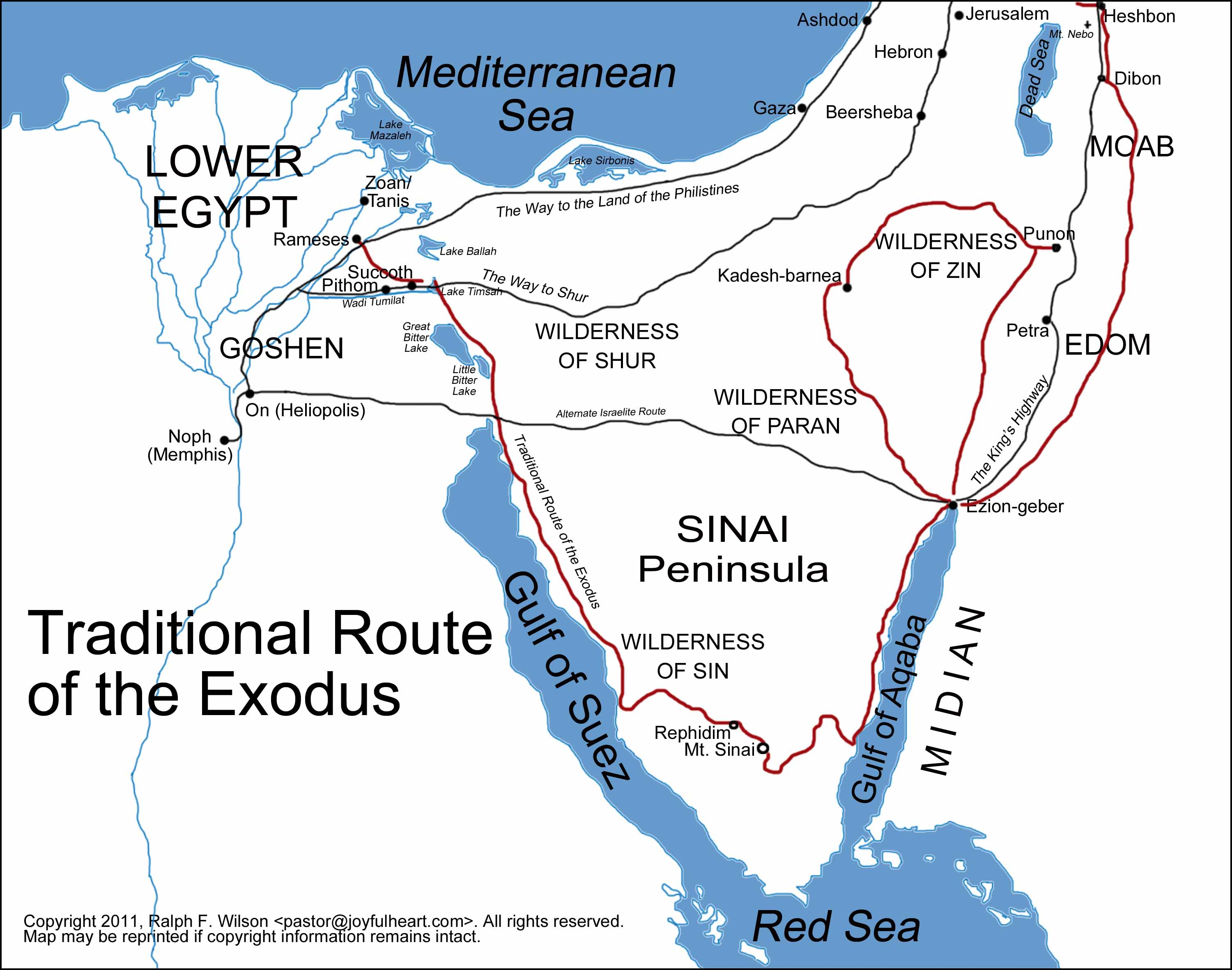 Graphics And Maps Of The Exodus And Tabernacle Moses Bible Study - Map of egypt during exodus