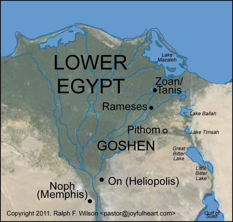 Graphics And Maps Of The Exodus And Tabernacle Moses Bible Study - Map of egypt during ramses