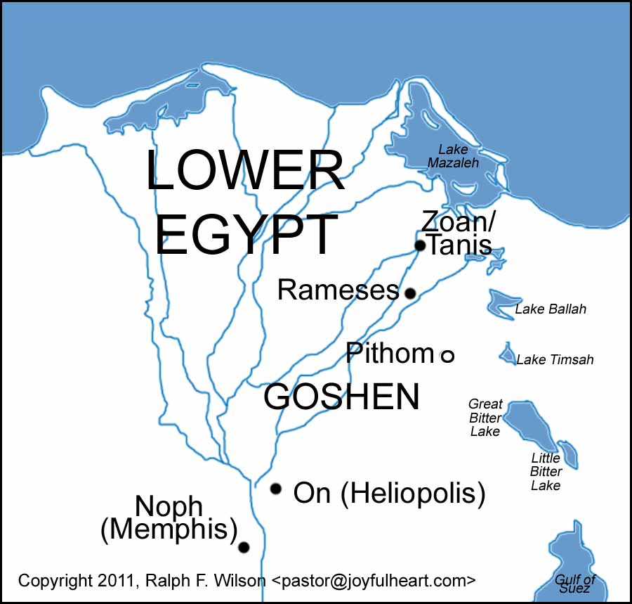 Tanis Egypt Map.Graphics And Maps Of The Exodus And Tabernacle Moses Bible Study