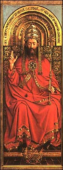 Ghent Altarpiece, God Almighty, by Hubert and Jan van Eyck