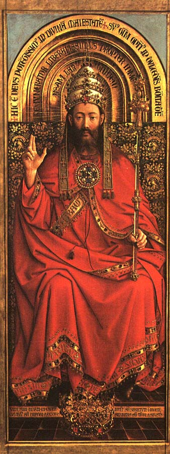 God almighty, Ghent altarpiece, van Eyck