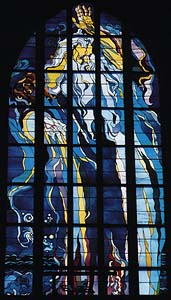 God the Father stained glass window by Stanislaw Wyspianski