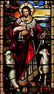 Philip Handel (1931-2009), 'The Good Shepherd,' St. John the Baptist Anglican Church, Ashfield, New South Wales.