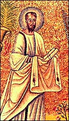 St. Paul with his scroll, cupola mosaic at Ravenna baptistry