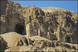 Caves above Engedi in the Judean wilderness.
