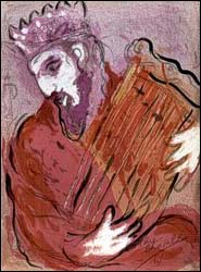 Marc Chagall, David with His Harp (1956), lithograph