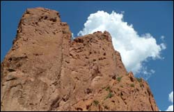 Rock formation from Garden of the Gods Park, Colorado Springs, CO