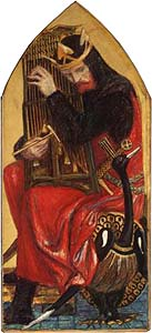 King David (1858-1864) by Dante Gabriel Rosetti