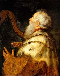 Peter Paul Rubens and Jan Boeckhorst, King David Playing the Harp (c. 1616, finished 1640s)