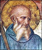 Fra Angelico, detail of St. Benedict (1439-1445)