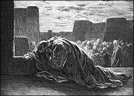 Gustav Dor�, detail from �Ezra in Prayer� (1866), engraving, from La Grande Bible de Tours.