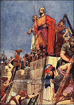 Standing watch as the wall of Jerusalem is rebuilt (artist unknown)