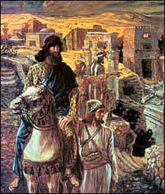 James J. Tissot, �Nehemiah Sees the Rubble in Jerusalem� (1896-1903), gouache on board, The Jewish Museum, New York.