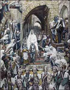 James J. Tissot, �Procession in the Streets of Jerusalem� (1898-1902), gouache on board, Brooklyn Museum, New York.