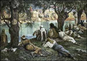 James J. Tissot, �Waters of Babylon� (1896-1902), gouache on board, The Jewish Museum, New York.