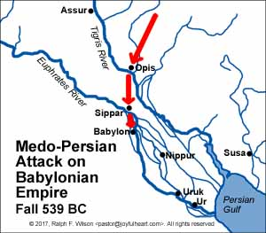 Medo-Persian Attack on the Babylonian Empire, Fall 539 BC