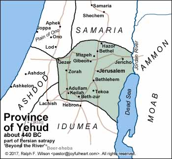 The Persian Province of Yehud (Judah), about 440 BC