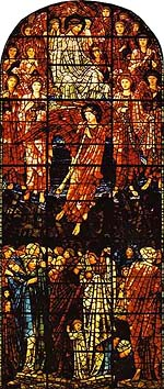 Edward Burne-Jones, Last Judgement (1896), West Window, St. Philip's Cathedral, Birmingham, UK