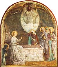 Fra Angelico (c. 1400-55), Resurrection of Christ and Women at the Tomb (1440-41), Fresco