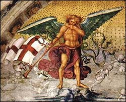 Luca Signorelli, detail from Resurrection of the Flesh (1499-1502)