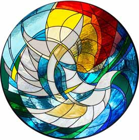 Carla Rieger (artwork), Metropolitan Ministries, Chapel of Hope, Tampa, Florida. Stained Glass by Katglass.