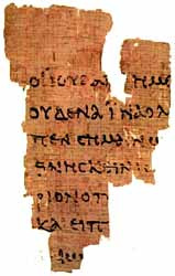 The Rylands Library Papyrus p52 is the earliest known New Testament manuscript.